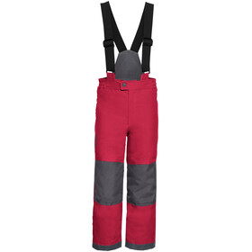 VAUDE Snow Cup III - Pantalon long Enfant - gris/rouge